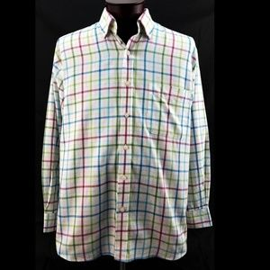 Alan Flusser L/S Plaid Oxford Dress Shirt